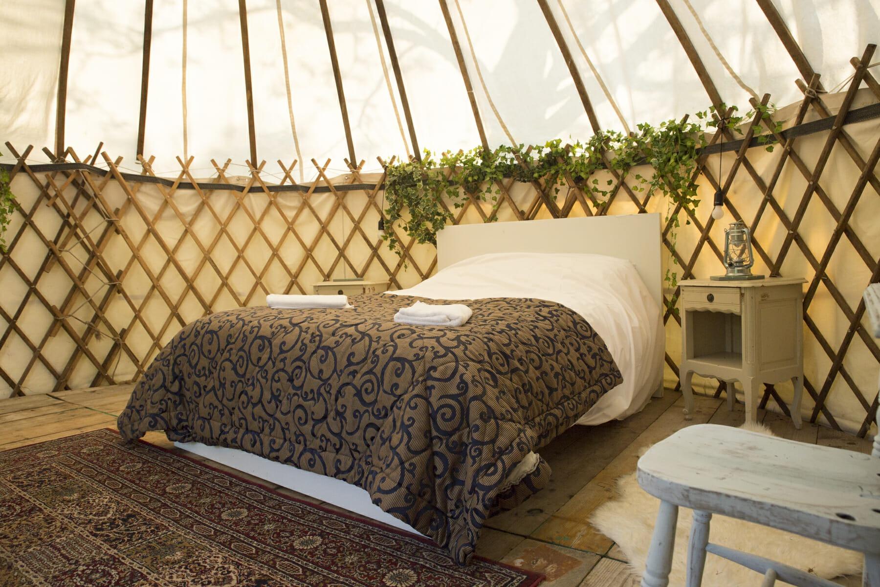 Yurts at Ballintubbert Gardens & House